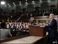 President Bush in front of Congress