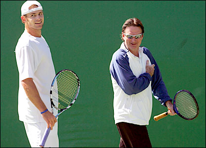 Andy Roddick and Jimmy Connors