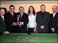 Kevin Brennan, Shahid Malik, Richard Caborn, Eva Linn Fossheim (referee) Nick Assinder, Rob Merrick