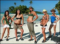 Female contestants on Shipwrecked