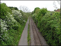 Bristol - Bath cycle track image Donald Sydney - from BBC Bristol website city views section