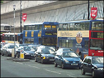Traffic on Oxford Road, Manchester