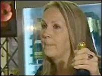 Pam Rowland, landlady of the Greyhound Inn, Penkhull