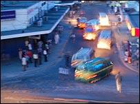 Mombasa street at night [Pic: Robyn Hunter]