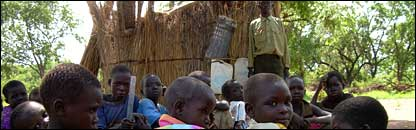 Children at Tiboro School in Yeri in southern Sudan