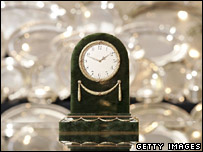 A nephrite clock up for sale