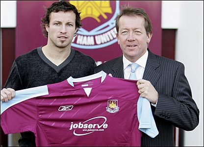 Lucas Neill and Alan Curbishley