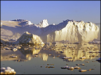Ice in Greenland (BBC)