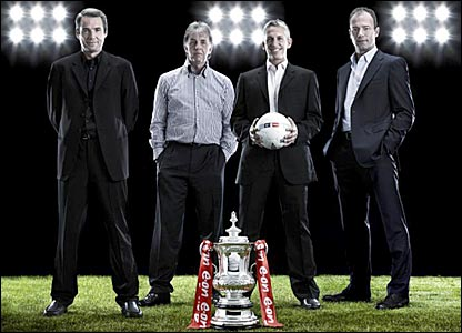 BBC Sport's Alan Hansen, Mark Lawrenson, Gary Lineker and Alan Shearer