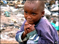 A child in Kenya's Kibera slums