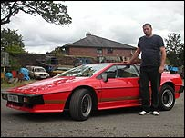 Simon Pritchard with his Lotus Esprit