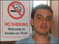 Dax Robateau, landlord of The Smithfield pub, Stoke-on-Trent