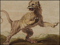 A lion, attributed to Carl Ruthart (1630-1703)