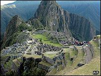 Ruinas del Machu Picchu en Perú