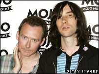 Jim Reid (l) of the Jesus and Mary Chain with Bobby Gillespie of Primal Scream