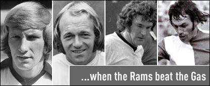 "Derby's Archie Gemmill and Colin Todd and Bristol Rovers' Bruce Bannister and Alan Warboys - AKA ""Smash and Grab"""