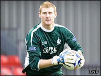 Scott Higgins in action for Falkirk