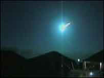 Meteor captured on video by BBC Wales viewer