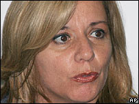 Ecuador's Defence Minister Guadalupe Larriva 