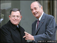 Fouad Siniora and French President Jacques Chirac