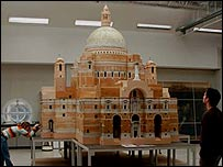 The cathedral model - picture courtesy of the Walker Art Gallery