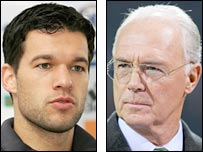 Michael Ballack and Franz Beckenbauer