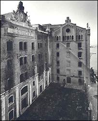 The Stucky building before restoration