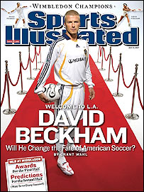 David Beckham on the front cover of Sports Illustrated