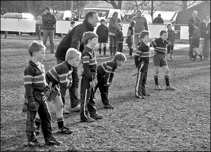 Andrew Watson's kids backline shot