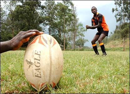 Richard Human's Rwandan rugby player