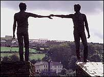 Statue of Hand of Friendship Between Two Communities