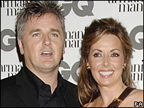 Des Kelly and Carol Vorderman