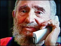 Cuban President Fidel Castro