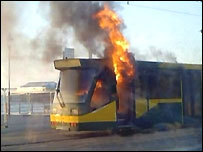 Blackpool tram fire