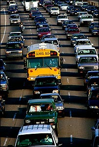 Congestion on a US freeway (Image: EyeWire)