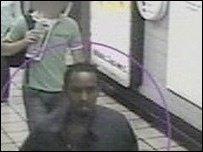 Suspect on Tube platform