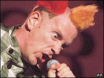 John Lydon of the Sex Pistols in 1996