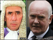 Judge John Rogers QC and home secretary John Reid