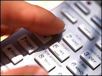 Finger dialling on phone