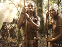 """Indígenas mayas en el rodaje de """"Apocalypto"""""""