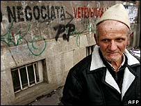 Ethnic Albanian man in Pristina