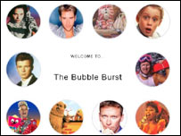 The Bubble Burst website