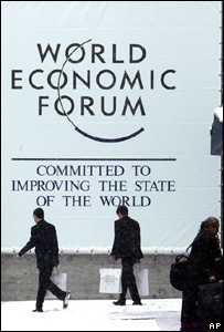 A sign at Davos 2007