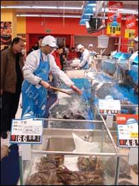 The Beijing Tesco's fish counter