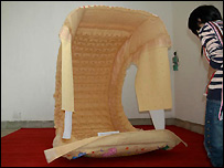 Picture of giant nappy - from artist Truong Tan