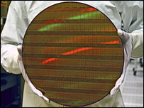 45 nanometre test wafer