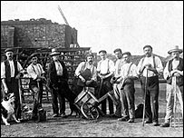 brickyard workers in Lincolnshire