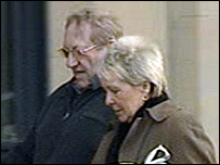 Hargreaves (left) arriving at court