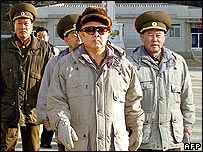 Kim Jong-Il and North Korean generals