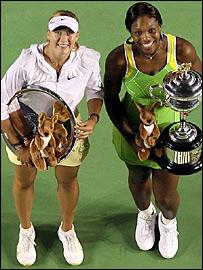 Maria Sharapova and Serena Williams